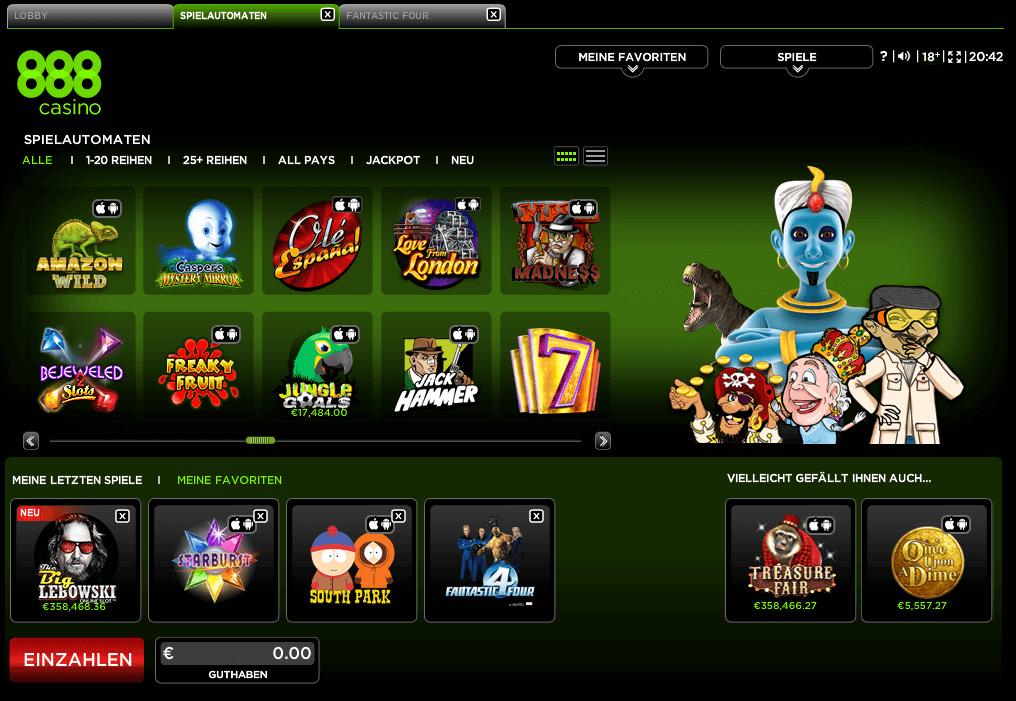 888 casino lobby pc