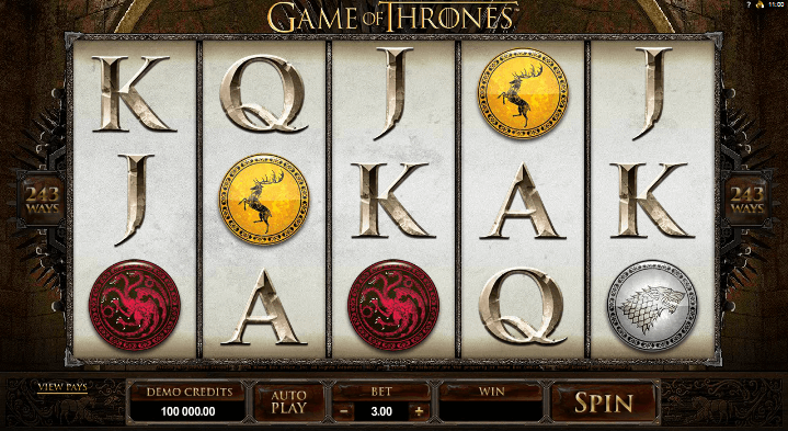 Game of Thrones Slot Spielen 243 Lines