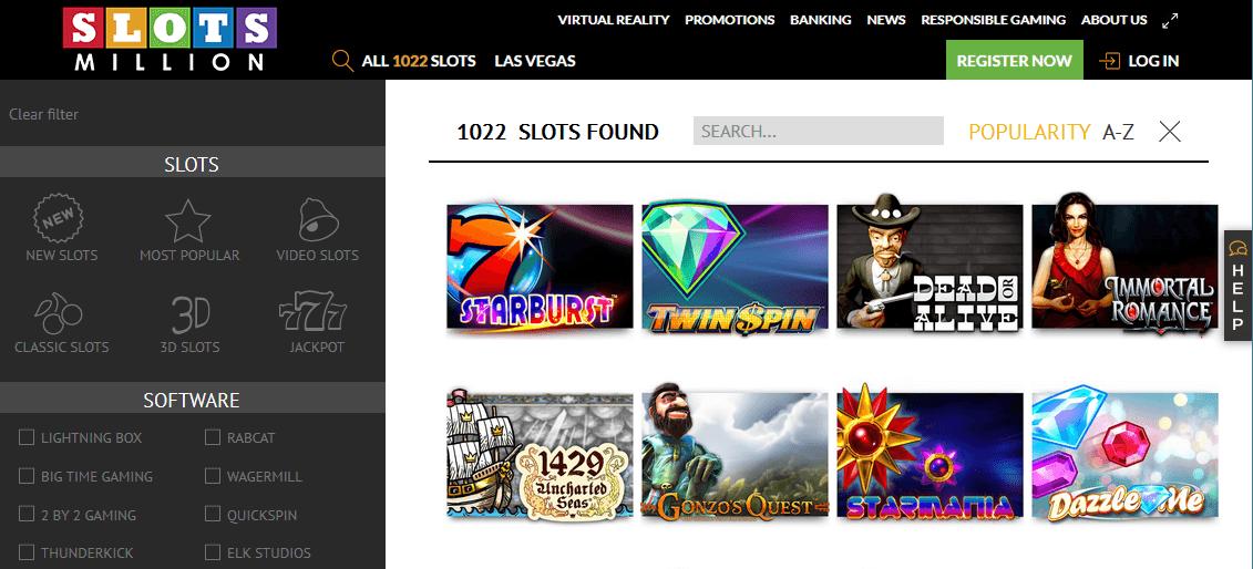 Slotsmillion Casino Erfahrungen - mehr als 1000 Slots