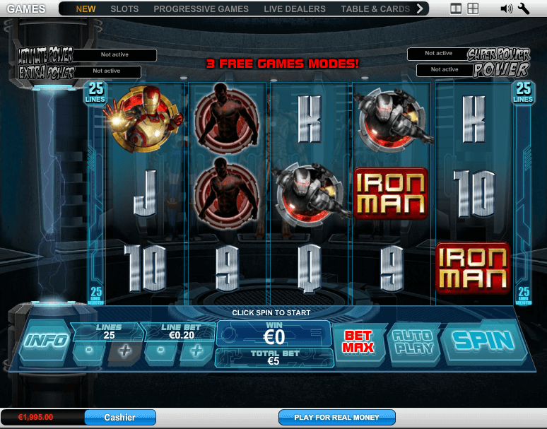 Iron Man 3 Slot Desktop