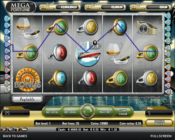 Die besten NetEnt Casinos bieten Mega Fortune