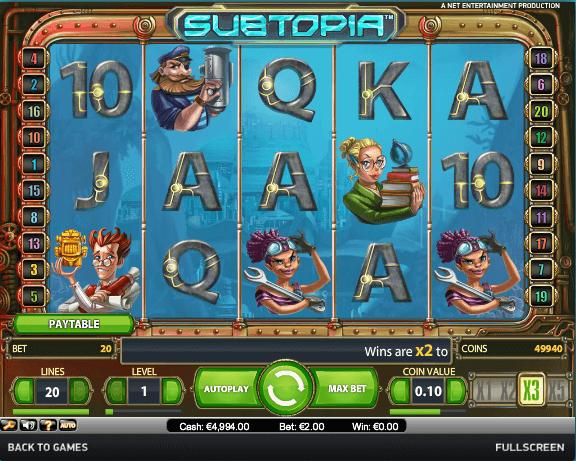 Subtopia Slot Spielen