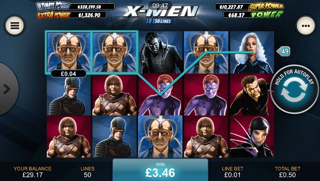 X-Men mobile Slot