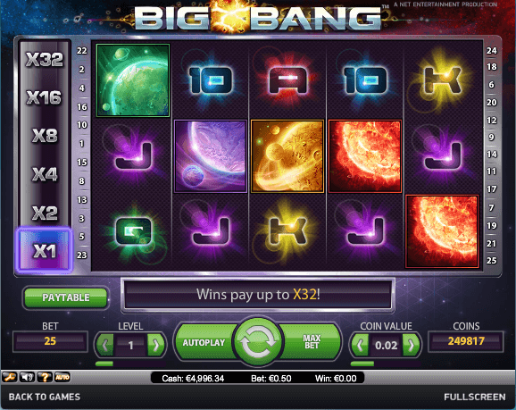 Big Bang Slot spielen