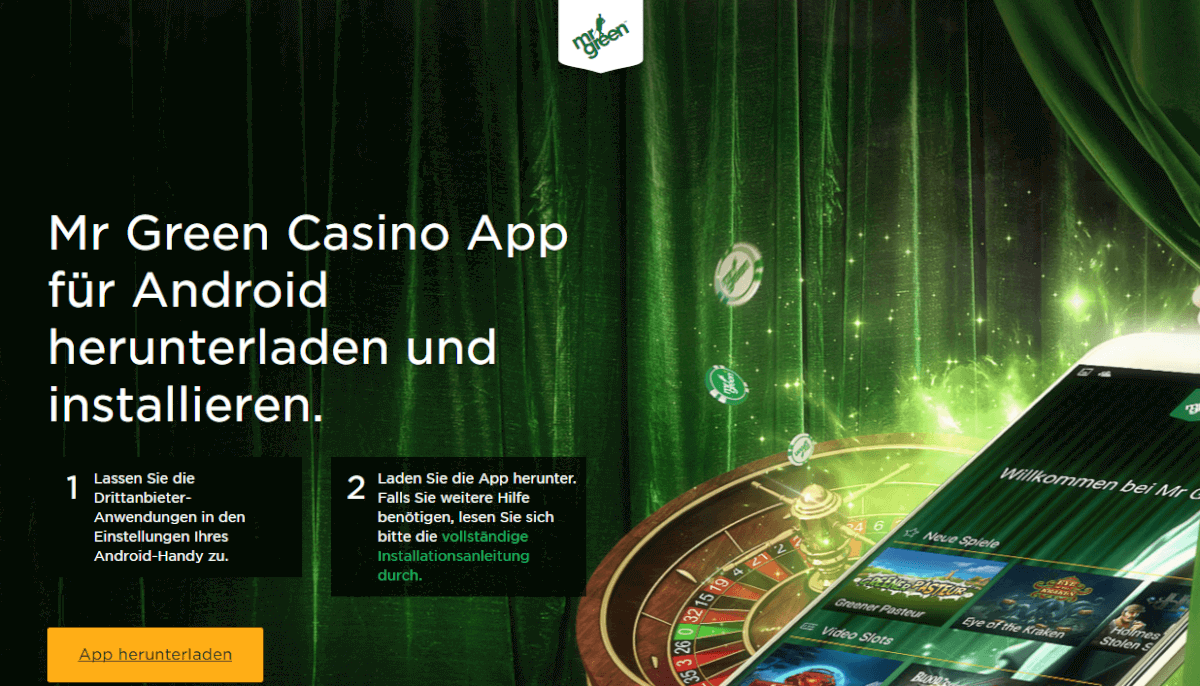mr green casino android