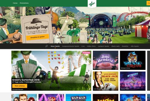 mr green screenshot