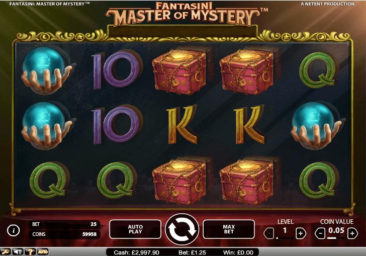 Fantasini Master of Mystery slot - spil online gratis nu