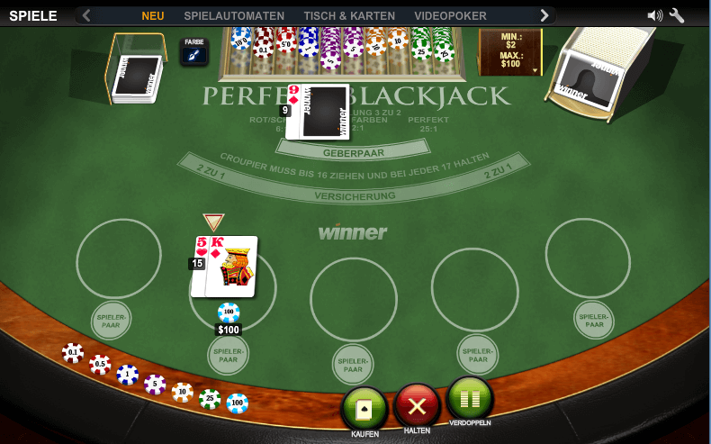Winner Casino Black Jack