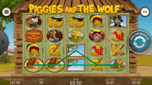 Piggies and the Wolf Spielen Mobil