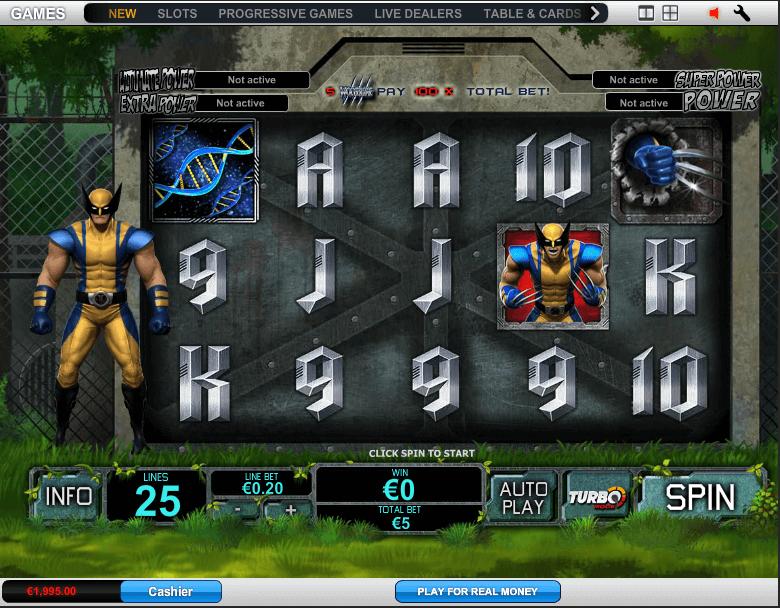 Wolverine Slot Spielen