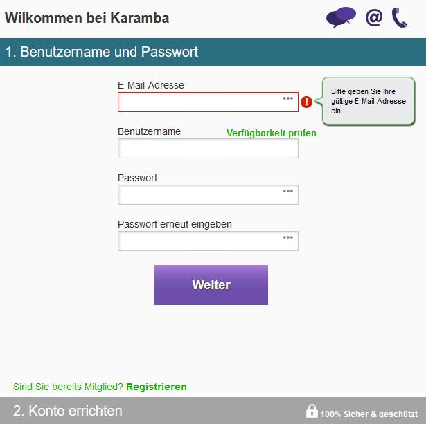 Karamba Casino Registrierung