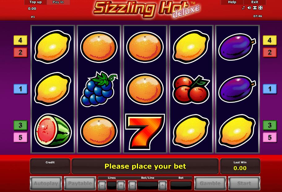 sizzling hot delux spielen