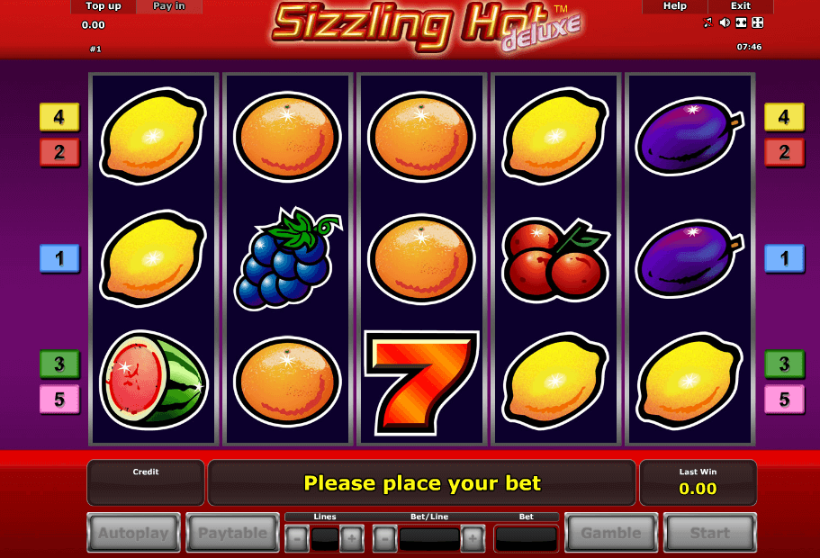 Sizzling Hot Deluxe Spielen