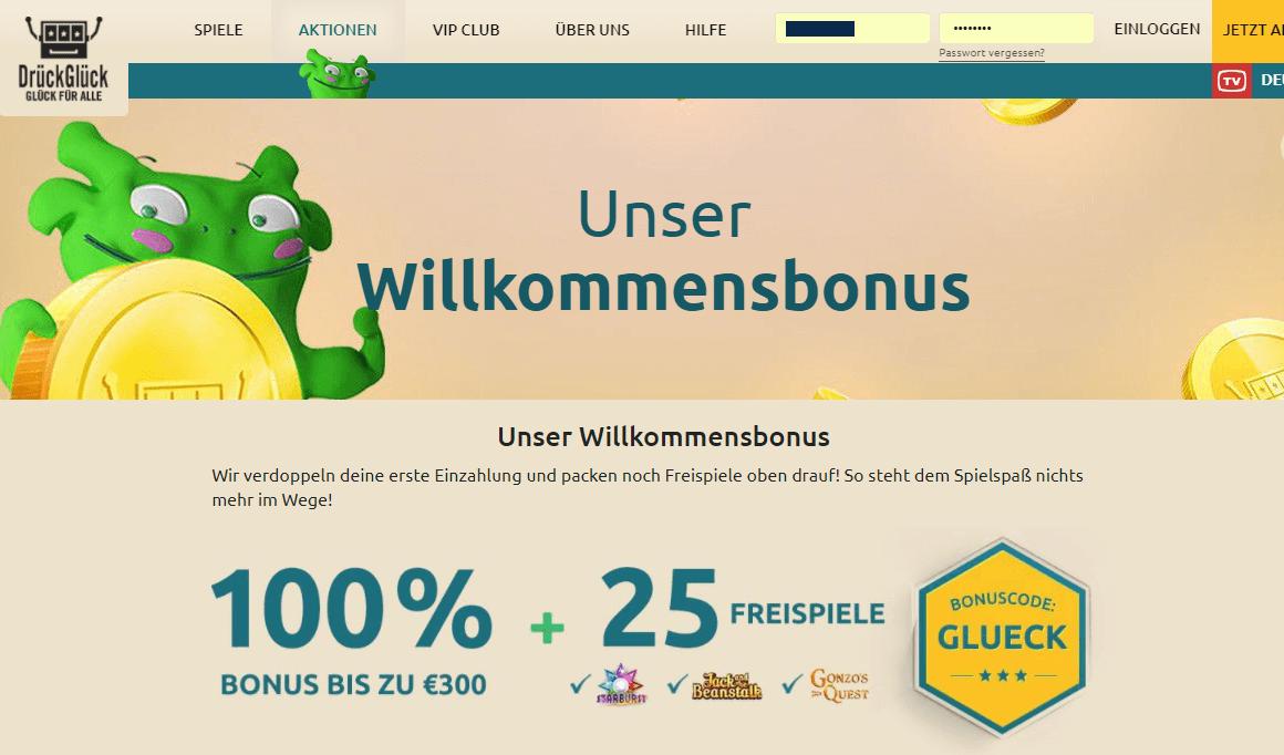 DrückGlueck Bonus