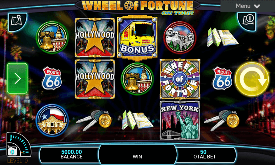 Wheel of Fortune on Tour Spielen Mobil
