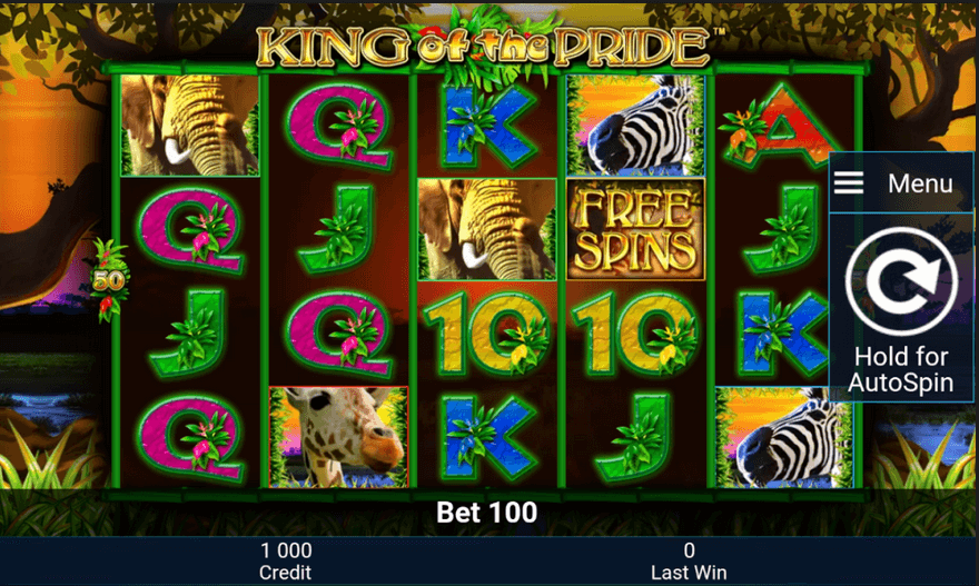 King of the Pride Slot mobil