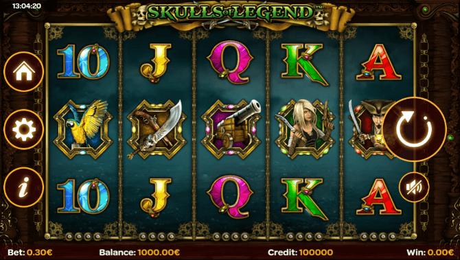 skulls of legend slot mobile