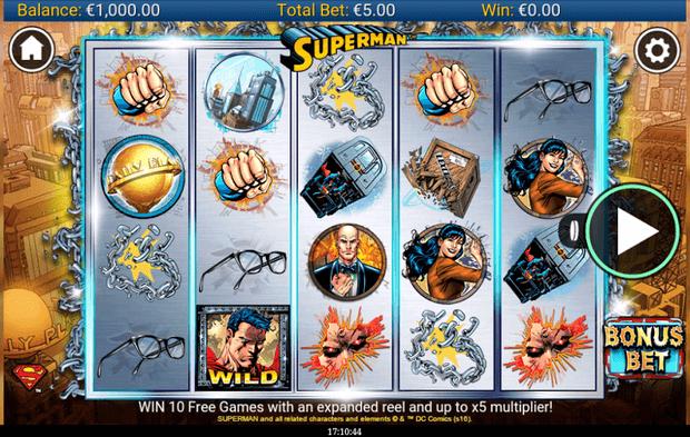 superman slot mobil