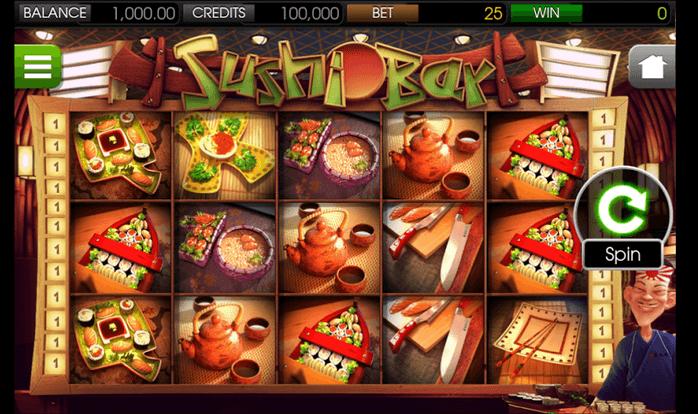 sushi bar slot mobil