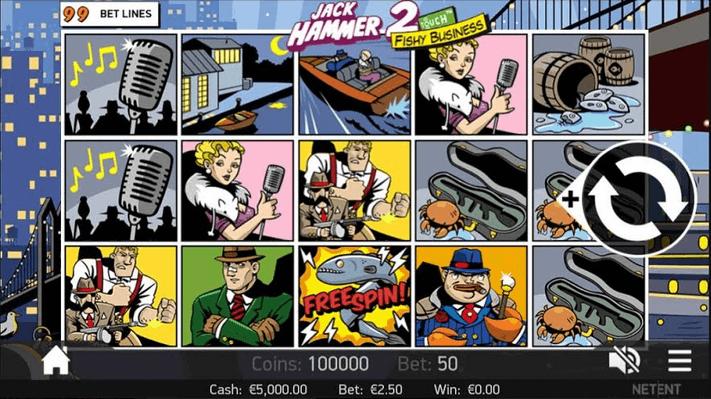 jack hammer 2 slot mobil