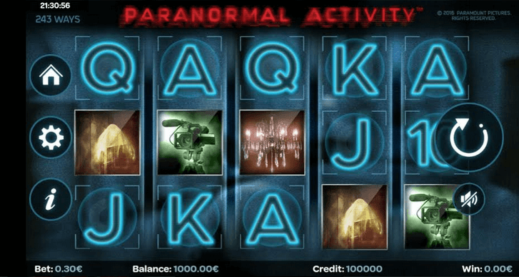 paranormal activity slot mobil