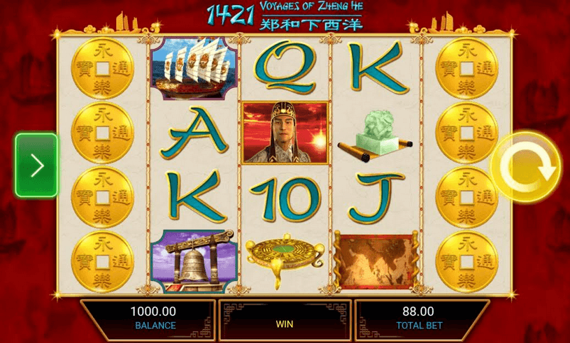 1421 Voyages of Zheng He Slot mobil