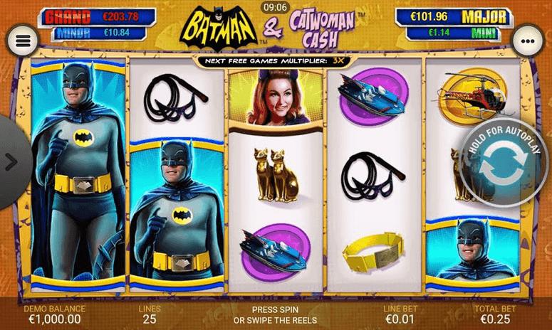 batman and catwoman cash slot mobil