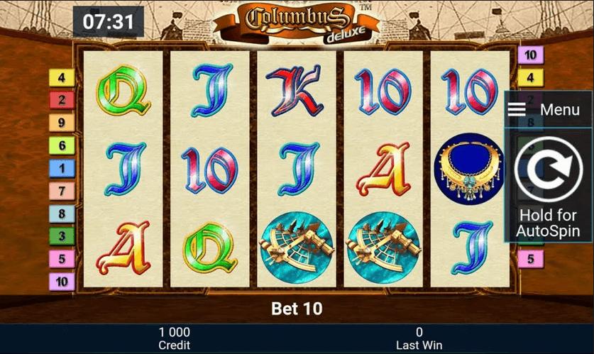 Columbus Deluxe Slot mobil