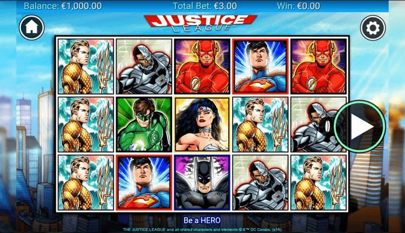 Justice League Slot mobil