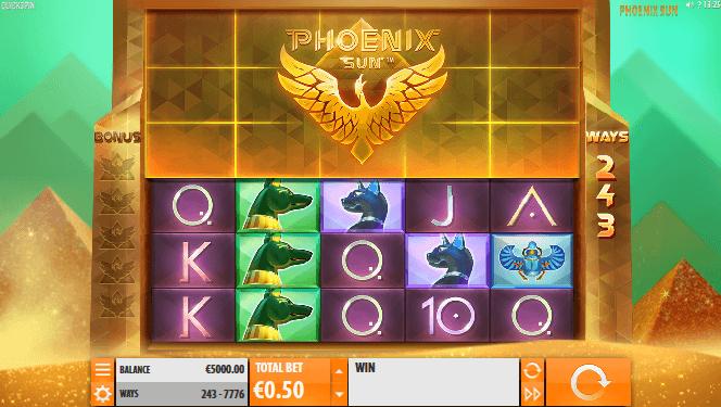 Phoenix Sun Spielautomat - Gewinne im Casumo Casino