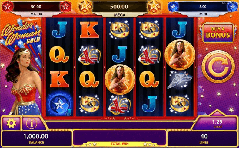 Wonder Woman Gold Slot mobil