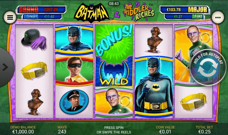 Batman & The Riddler Riches Slot mobil