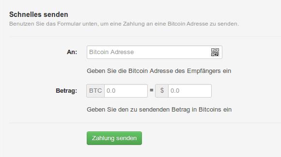 Blockchain Senden