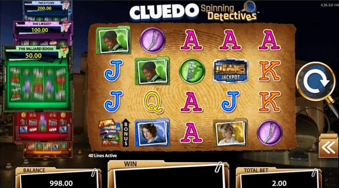 CLUEDO Spinning Detectives Slot mobil