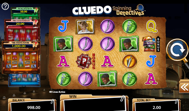 CLUEDO Spinning Detectives Slot