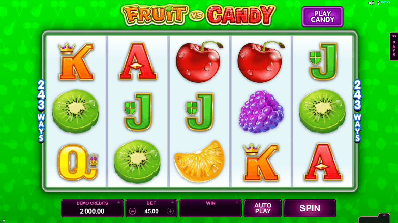 Fruit vs. Candy Slot