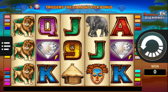 Serengeti Diamonds Slot mobil