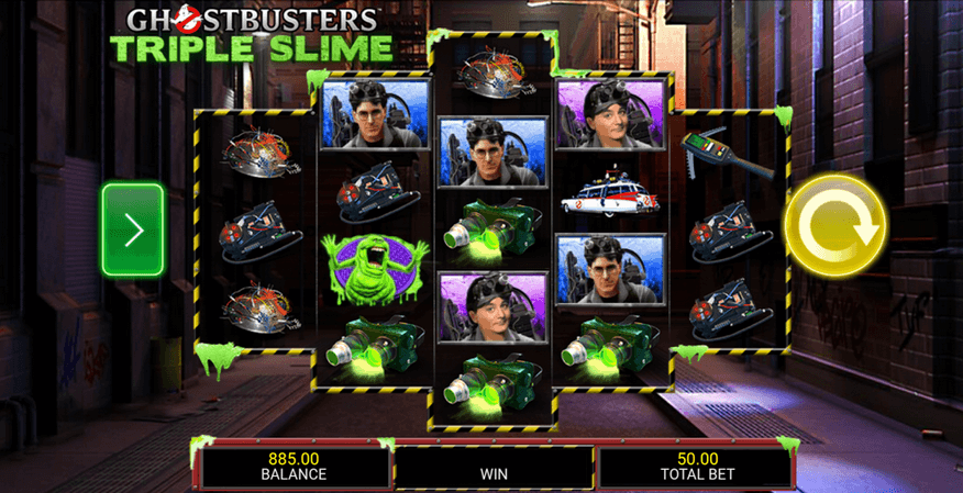 Ghostbusters Triple Slime Slot mobil