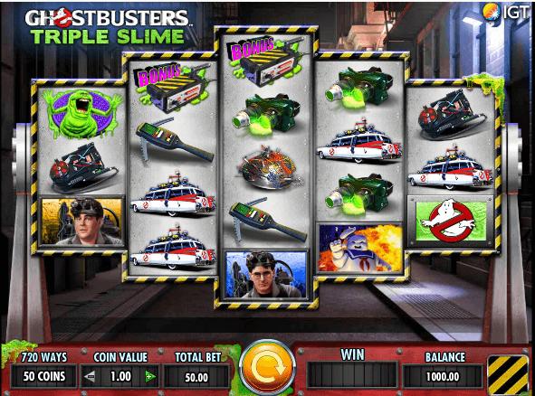 Ghostbusters Triple Slime Slot