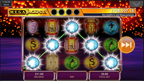 MegaJackpots Star Lanterns Slot mobil