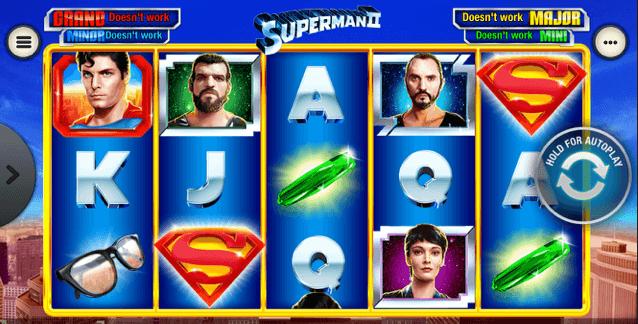 Superman II Slot mobil