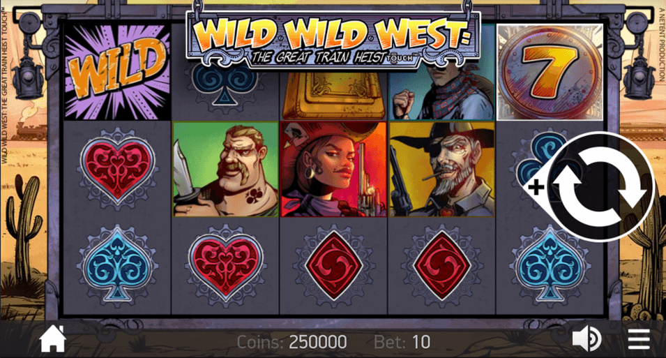 Wild Wild West: The Great Train Heist Slot mobil