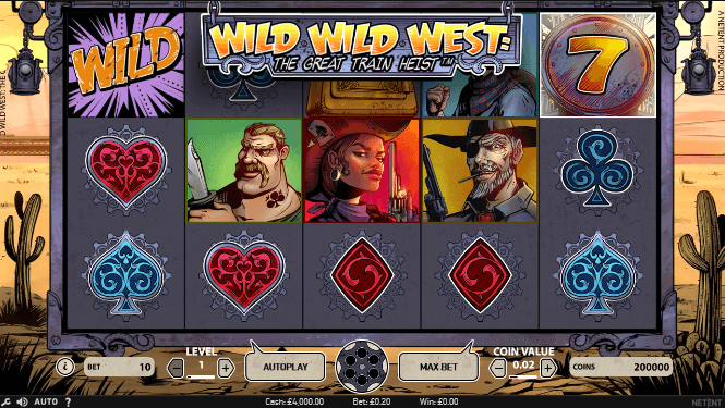 Wild Wild West: The Great Train Heist Slot