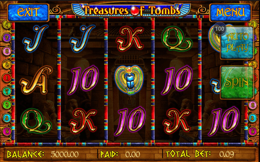 Treasures of Tombs Hidden Gold Slot mobil