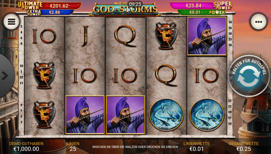 Age of the Gods: God of Storms Slot Mobil