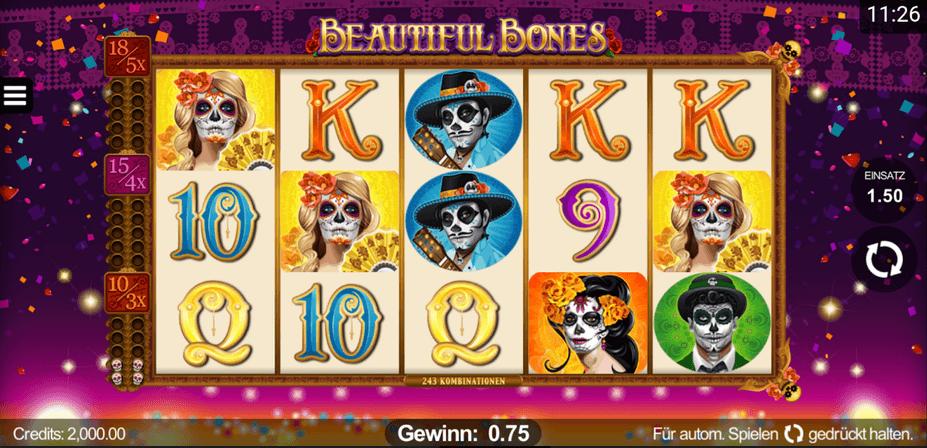 Beautiful Bones Slot mobil