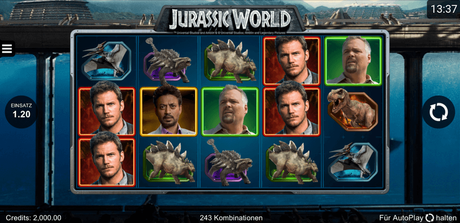 Jurassic World Slot mobil