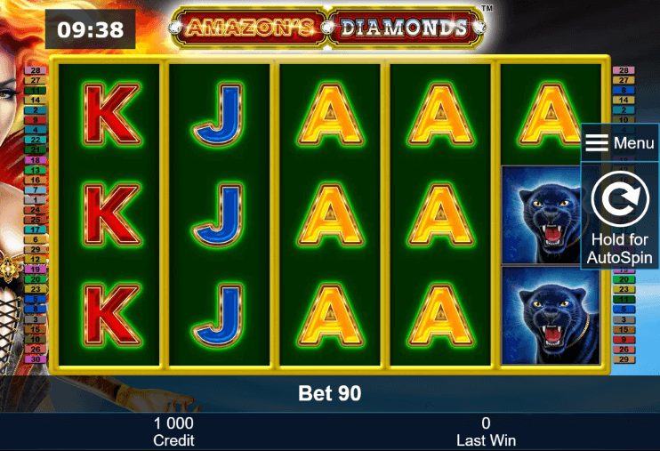 Amazon's Diamonds Slot mobil