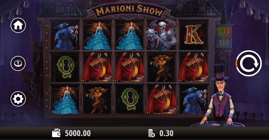 Marioni Show Slot mobil