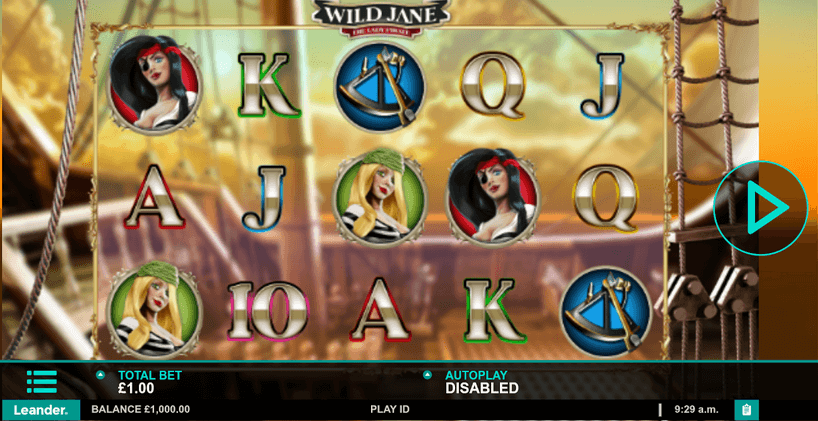 Wild Jane The Lady Pirate Slot mobil